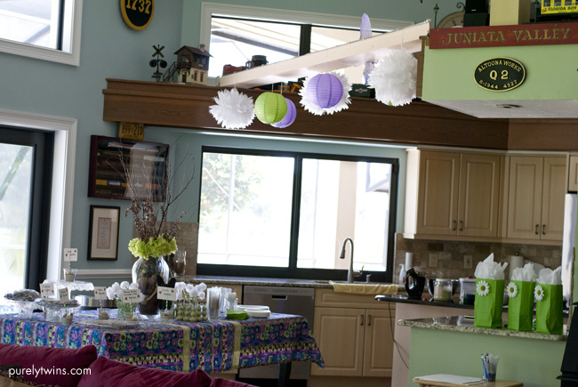purple green fairy baby shower