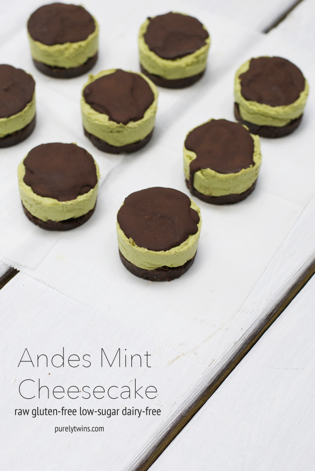 raw andes mint cheesecake purelytwins