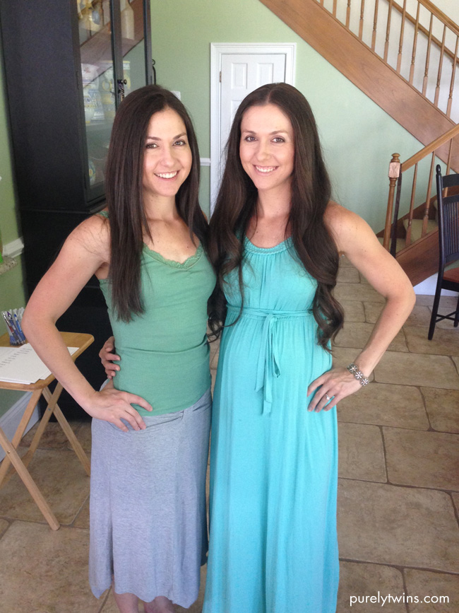 purely twins at baby shower