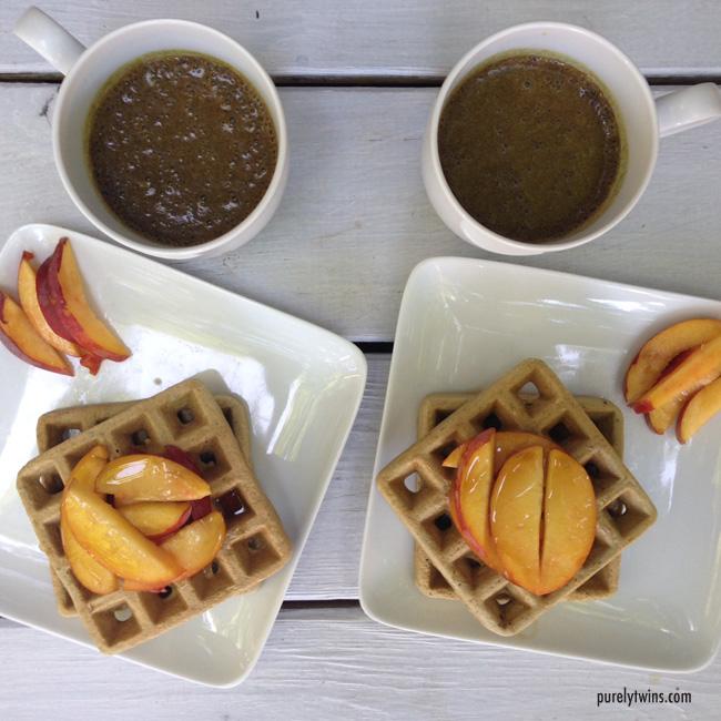 waffle peach bulletproof breakfast
