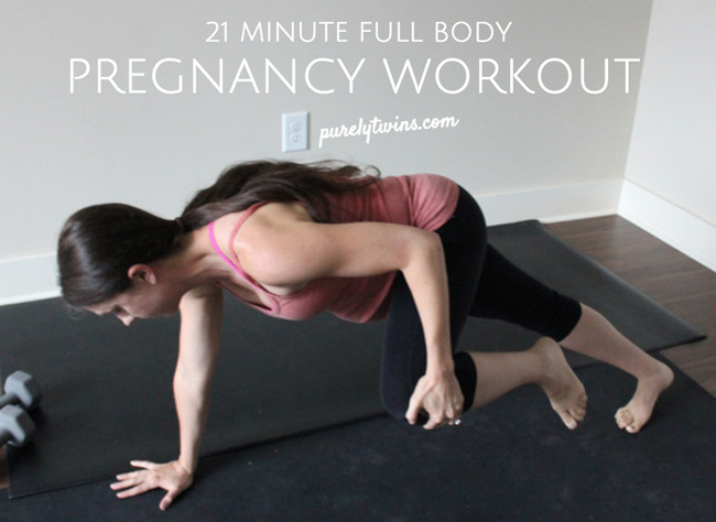 21 minute full body pregnancy workout