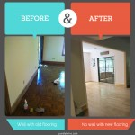 Before and after photos update with house flooring and wall
