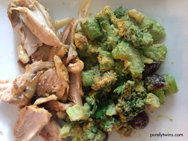 chicken with broccoli waldorf salad