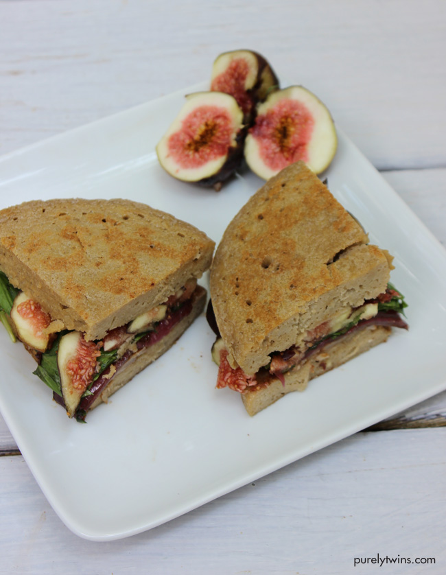 fig goat cheese real food sandwich for one purelytwins