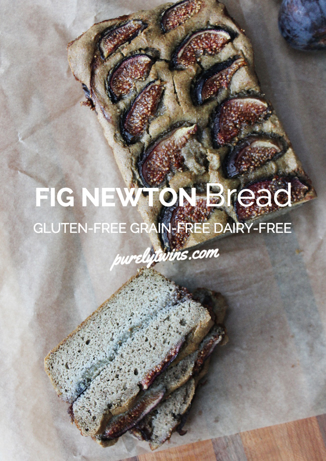 fig newton bread recipe gluten-free grain-free dairy-free purelytwins.com a healthy bread recipe using figs