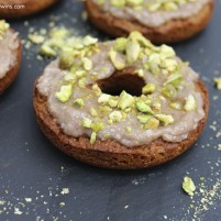 Pistachio fig goat cheese egg-free grain-free donut recipe (our favorite one!)