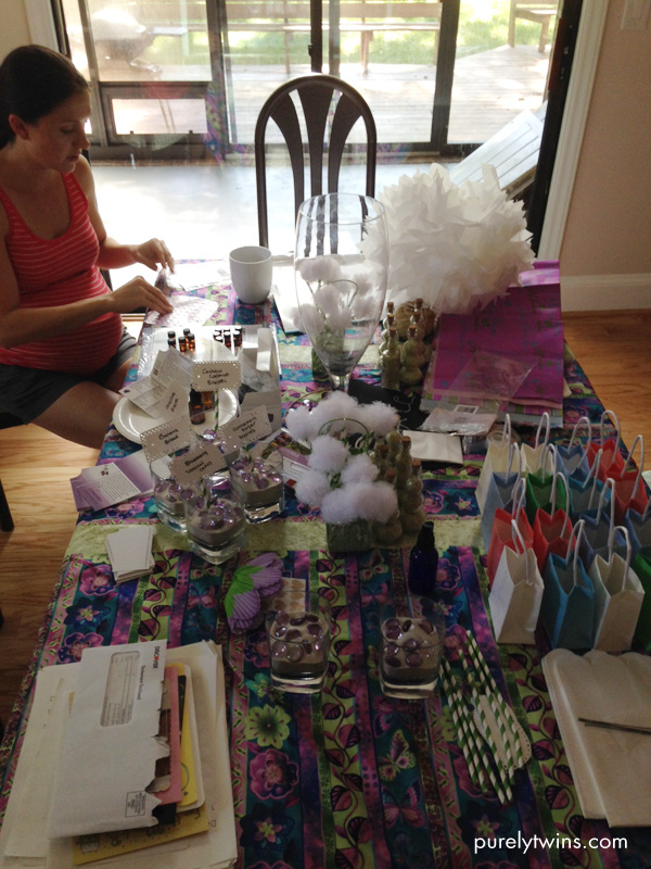 filling doterra oils samples for gifts