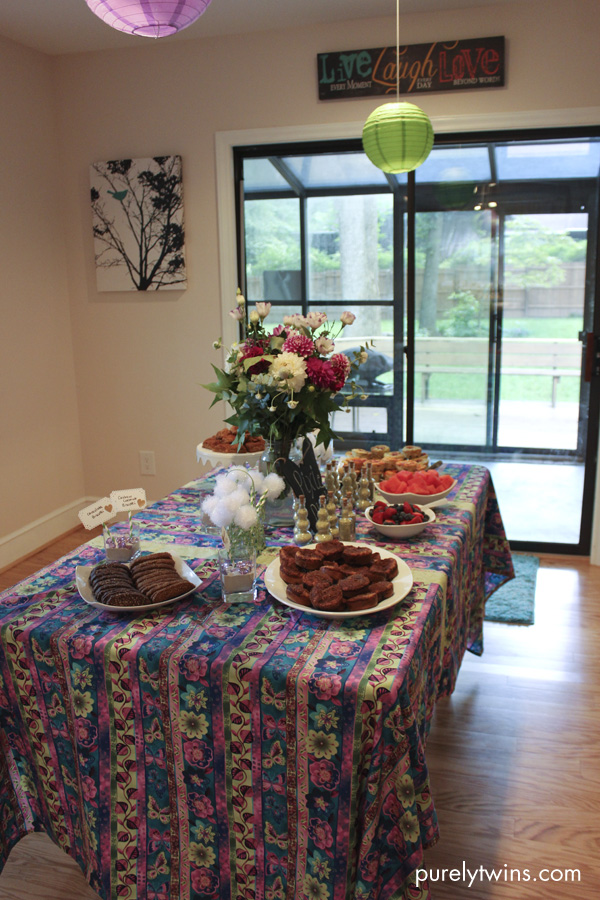 food table area