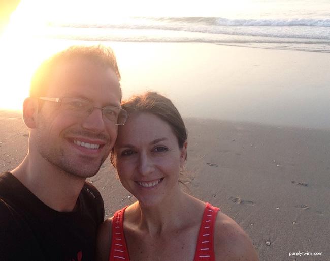 gary and lori at the beach