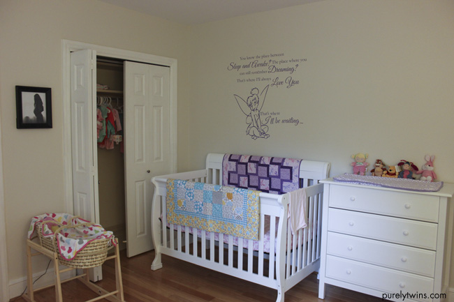 girls baby nursery all done purelytwins