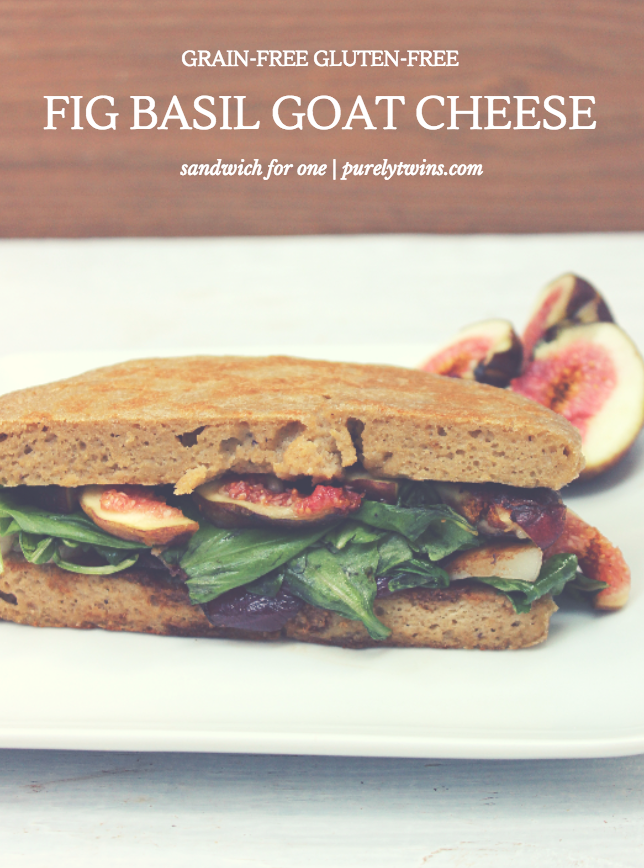 gluten free grain free fig basil goat cheese sandwich for one purelytiwns