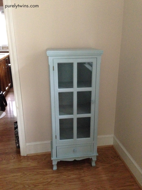 new blue cabinet