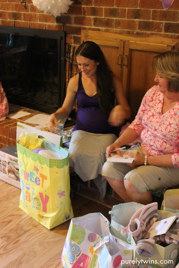 opening baby girl shower gifts