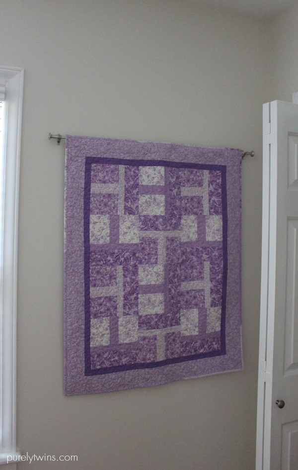 purple quilt for baby purelytwins
