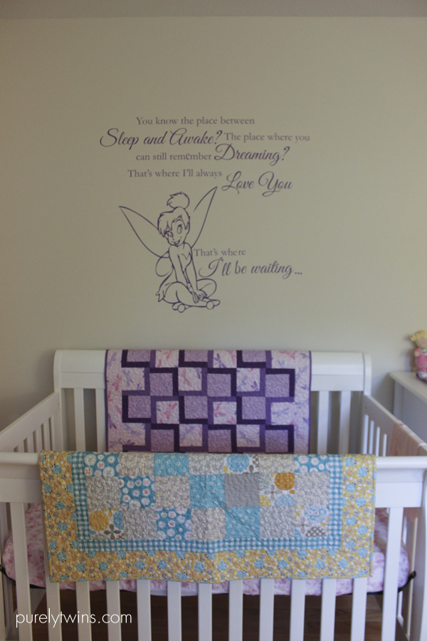 quote over baby crib