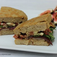 fig goat cheese basil balsamic onion sandwich for one
