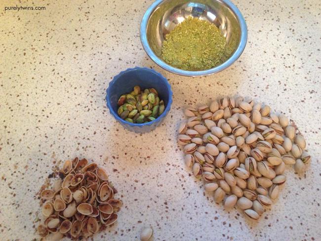 shelling pistachios