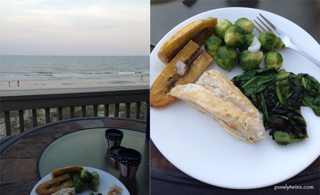 simple dinner at beach