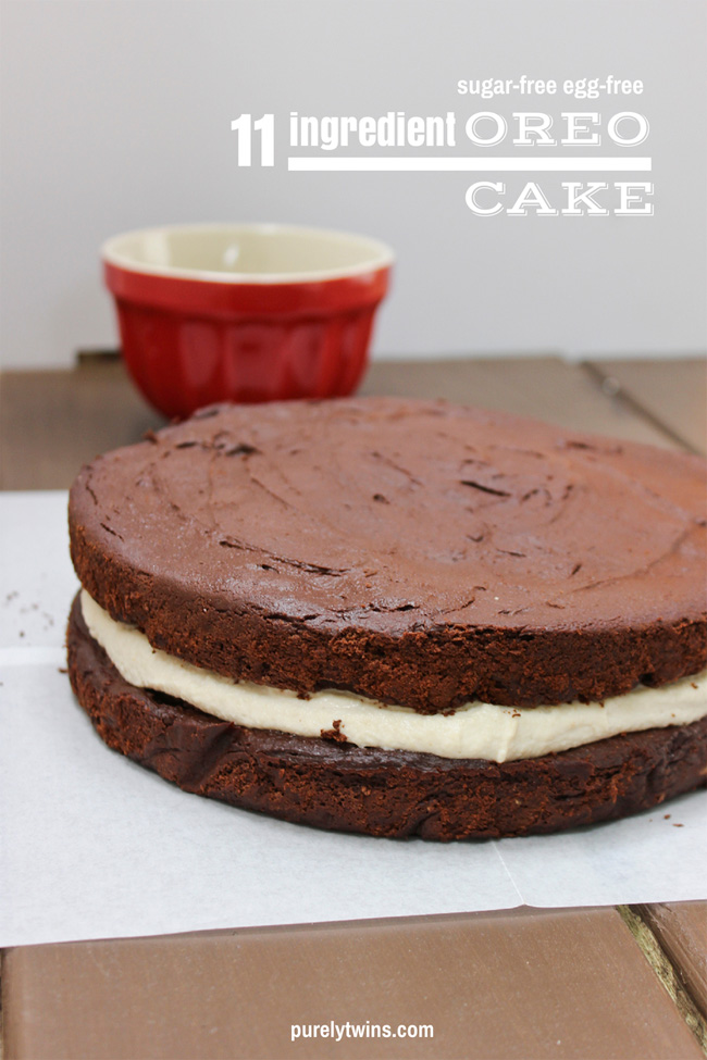 11 INGREDIENT HEALTHY SUGAR-FREE, EGG-FREE, GRAIN-FREE OREO CAKE