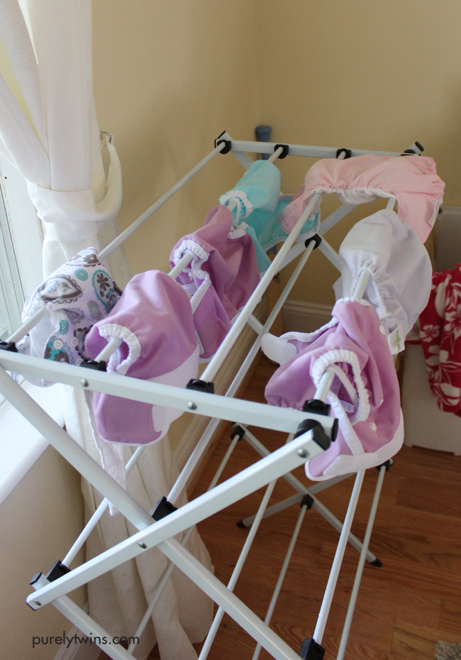 cloth-diapers-drying-on-drying-rack