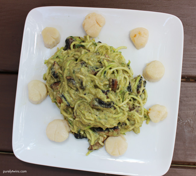 delicious-sizzlefish-scallop-alfredo-pasta-grain-free-paleo-dinner-purelytwins