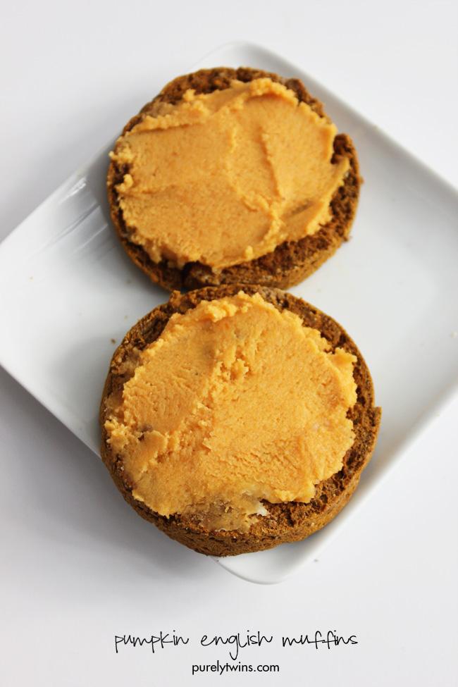 healthy-easy-homemade-pumpkin-vegan-english-muffin-that-serves-one-gluten-free-breakfast-purelytwins