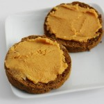 pumpkin protein egg-free english muffin with pumpkin coconut butter that serves 1