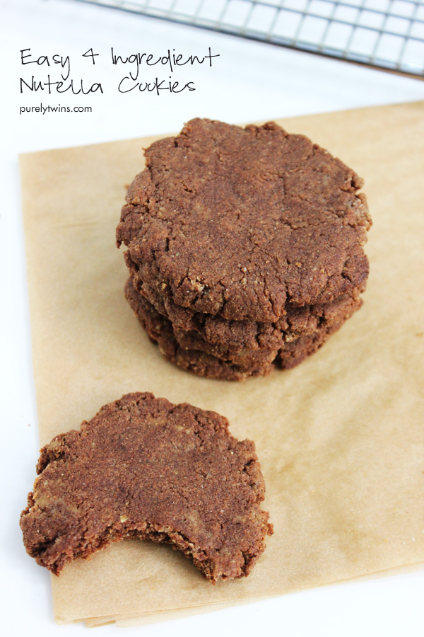 4 Ingredient Chocolate Nutella Easy Cookie Grain Free