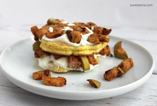 Single serving 4 ingredient apple pie pancake recipe
