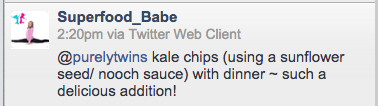 kale chip shout out