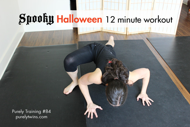A fun bodyweight halloween workout to get in shape at home. A short and sweet full body workout for women. And it only takes 12 minutes to complete. Short fat burning home workout.