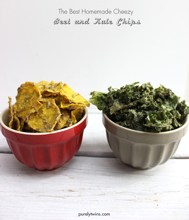 Dairy-free cheezy beet and kale chip recipe + video