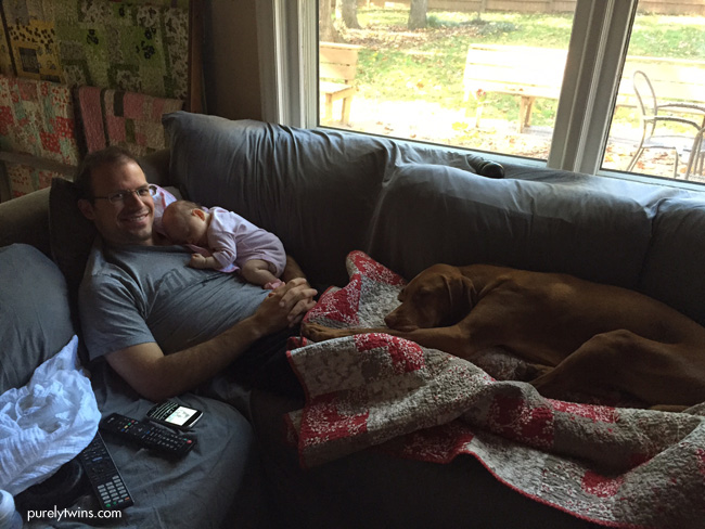dad-baby-dog-on-couch