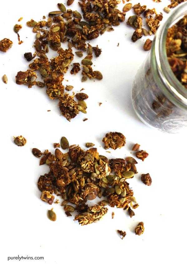 healthy-gluten-free-grain-free-no-sugar-added-homemade-pumpkin-granola