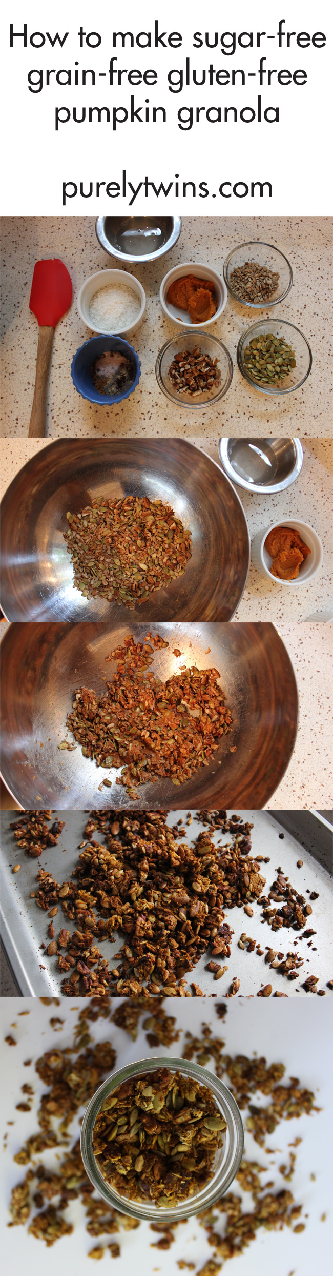 how-to-make-sugar-free-grain-free-pumpkin-granola-purelytwins