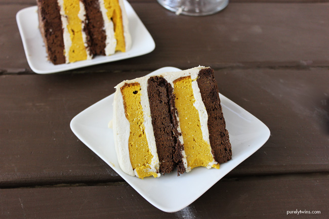 Oreo kabocha squash layered cake (gluten, grain, sugar and dairy free)