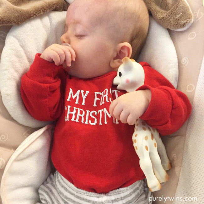 baby-first-christmas-sleeping-with-sophie-the-giraffe