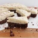 Raw peppermint snow cake