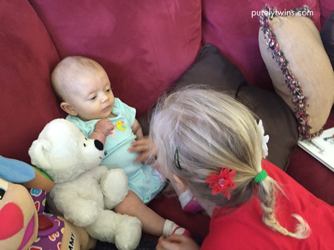 cousins meeting for the first time