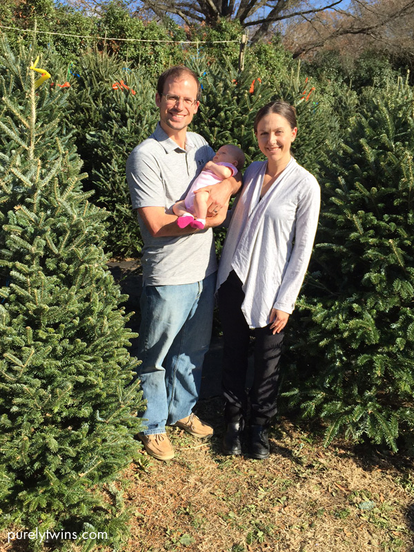 first-family-christmas-tree-picking