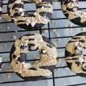 Peppermint mocha donuts with no sugar protein glaze