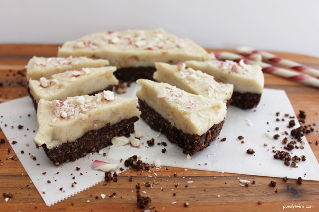 raw peppermint snow cake gluten free grain free vegan low