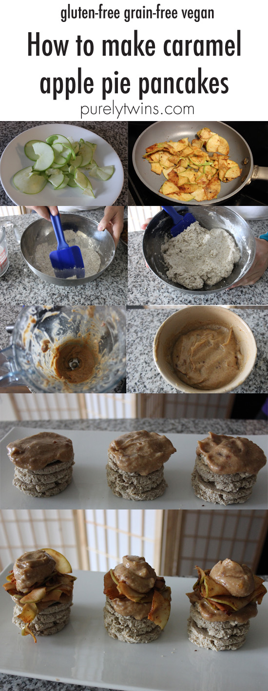 how-to-make-gluten-free-grain-free-vegan-apple-pie-pancakes-3-ingredient-caramel-sauce