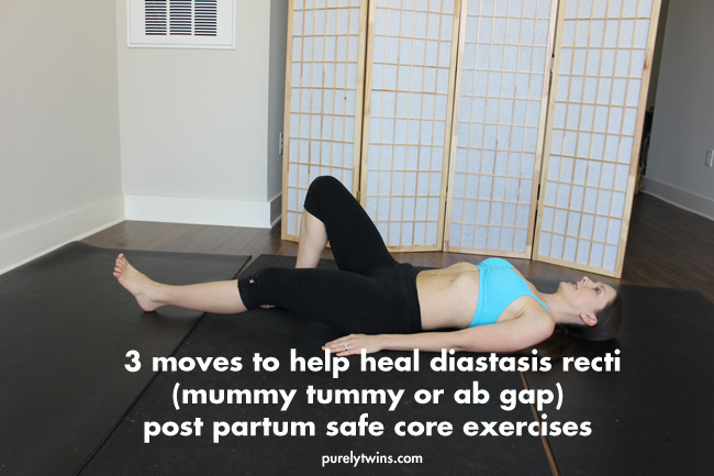3 moves to help heal diastasis recti ab separation from pregnancy