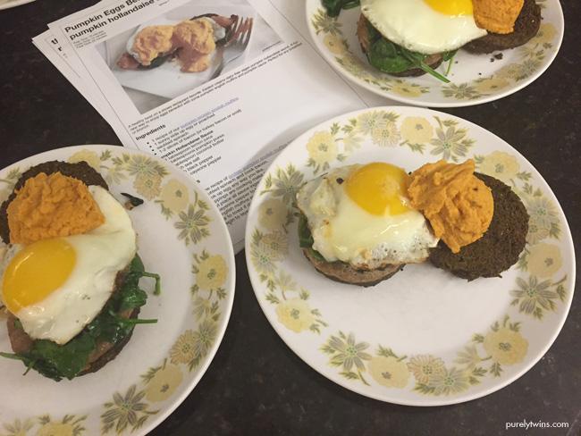 dinner for family eggs benedict