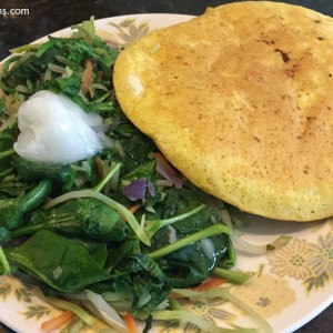 egg pancake greens
