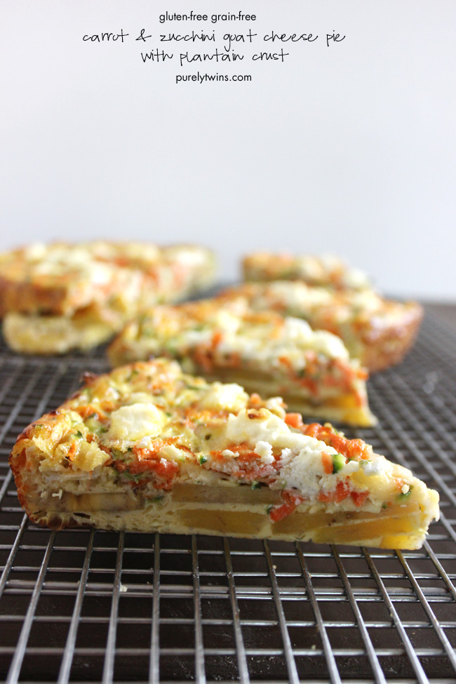 healthy-real-food-gluten-free-grain-free-carrot-zucchini-goat-cheese-pie-with-plantain-crust-purelytwins