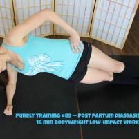 16 minute post partum workout (diastasis recti safe)