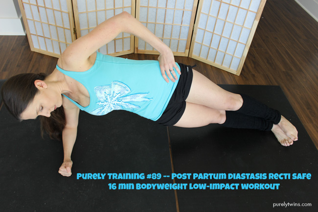 Post Partum diastasis recti safe workout that only takes 16 minutes and low impact.