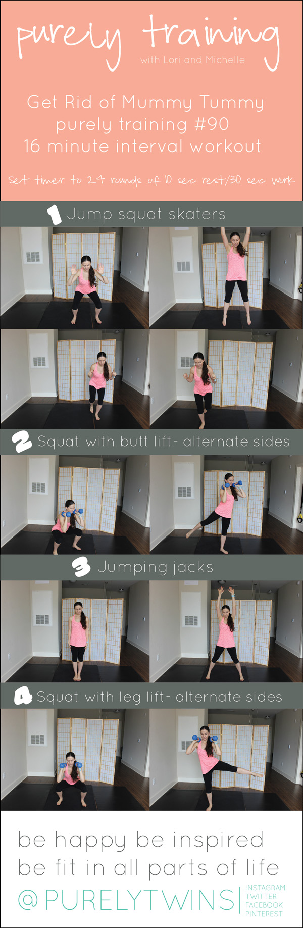 Mummy tummy home workout to heal ab gap #postpartum workout #purelytwins